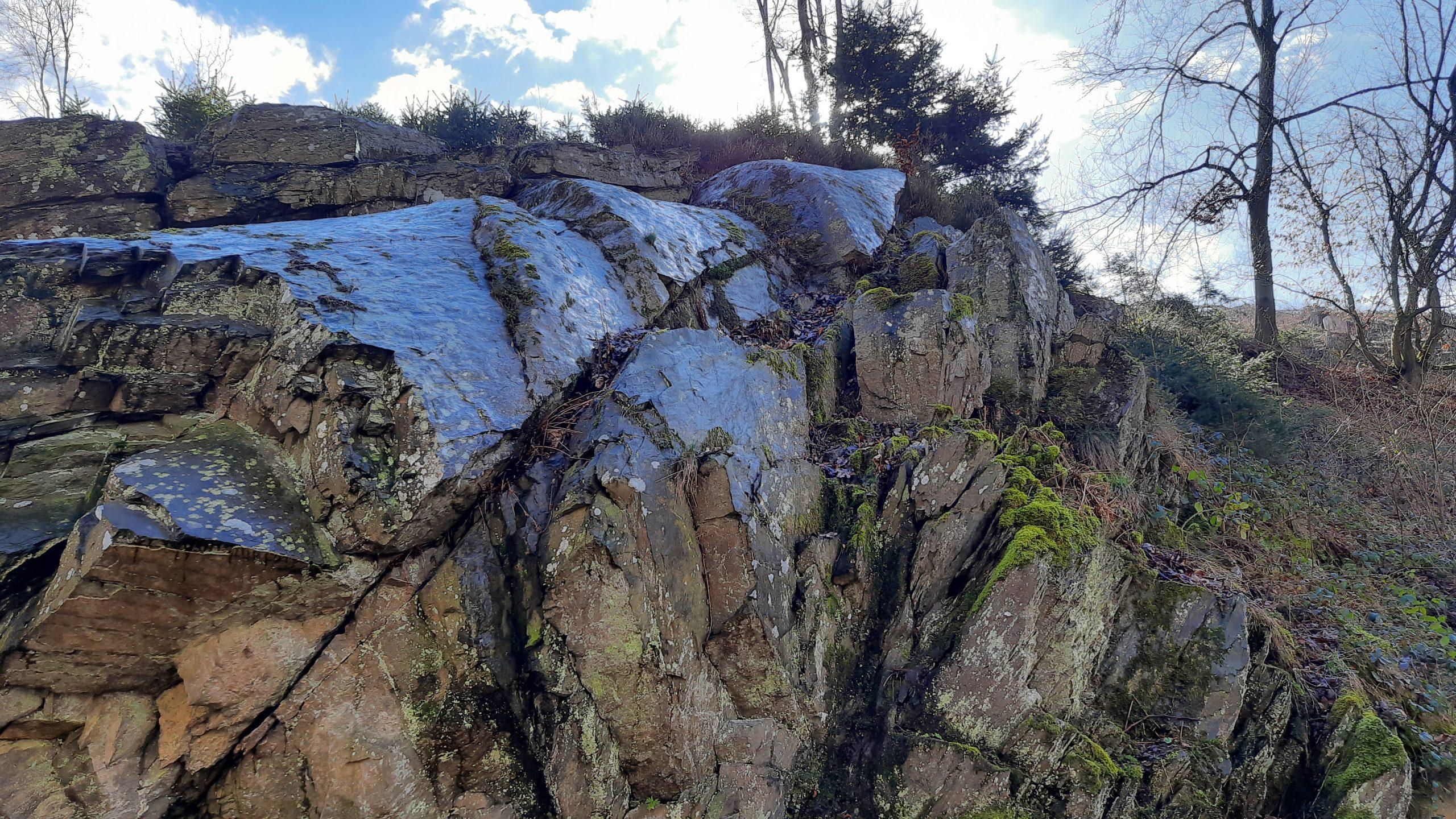 geologischer Felssattel Teufelsley
